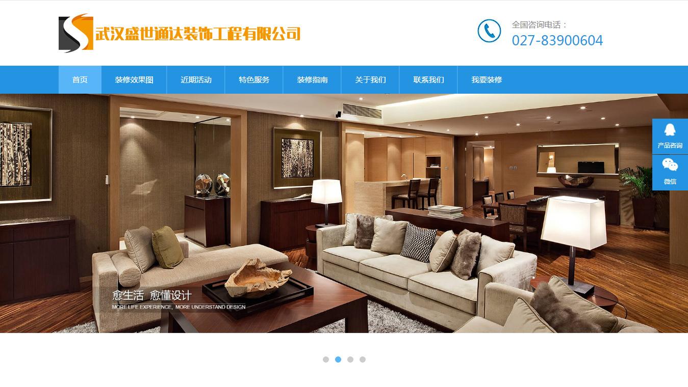 武汉盛世通达网站建设项目